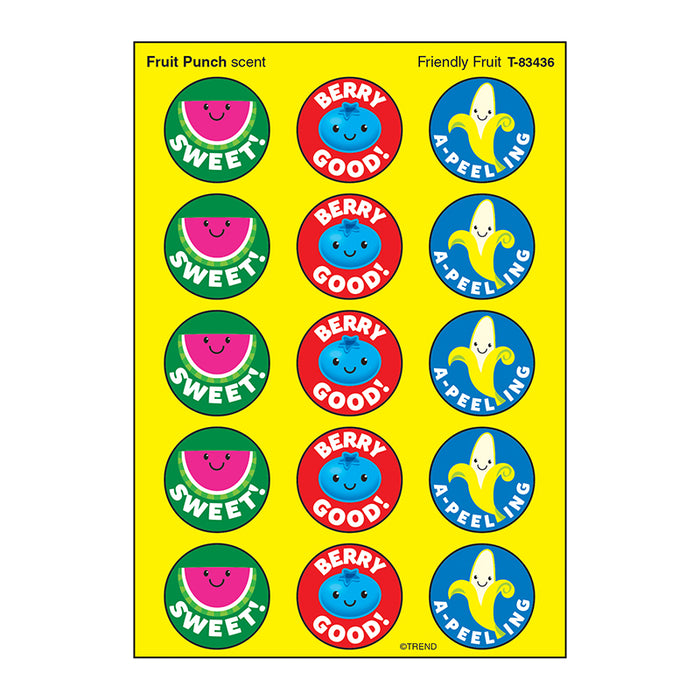 FRIENDLY FRUIT STINKY STICKERS LG