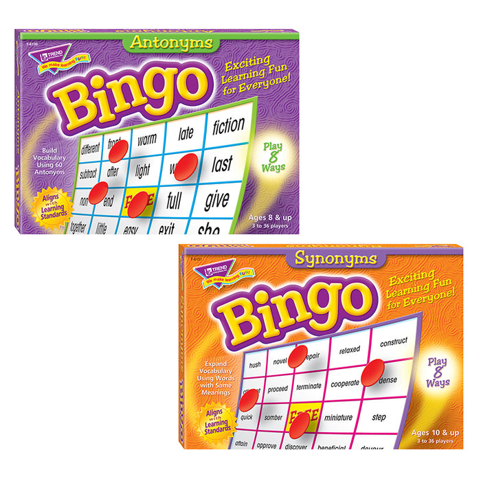 Synonyms & Antonyms Bingo Pack