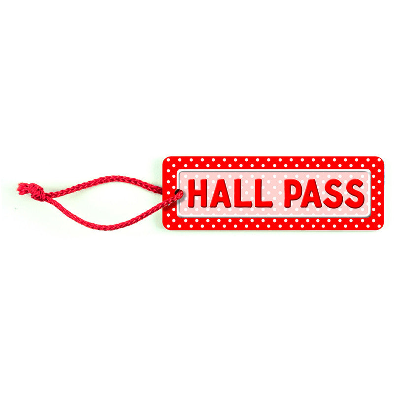 POLKA DOTS HALL PASS - Supplies by Teachers