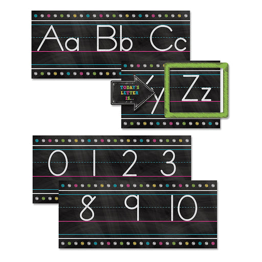 CHALKBOARD BRIGHTS ALPHABET LINE BB SET - Supplies by Teachers
