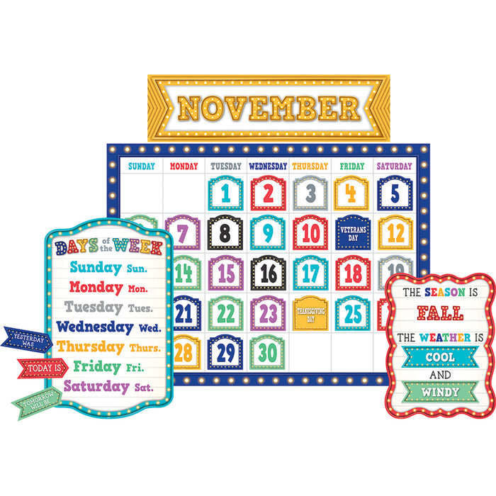 MARQUEE CALENDAR BULLETIN BOARD - Supplies by Teachers