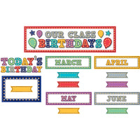 MARQUEE OUR CLASS BIRTHDAYS MINI BULLETIN BOARD