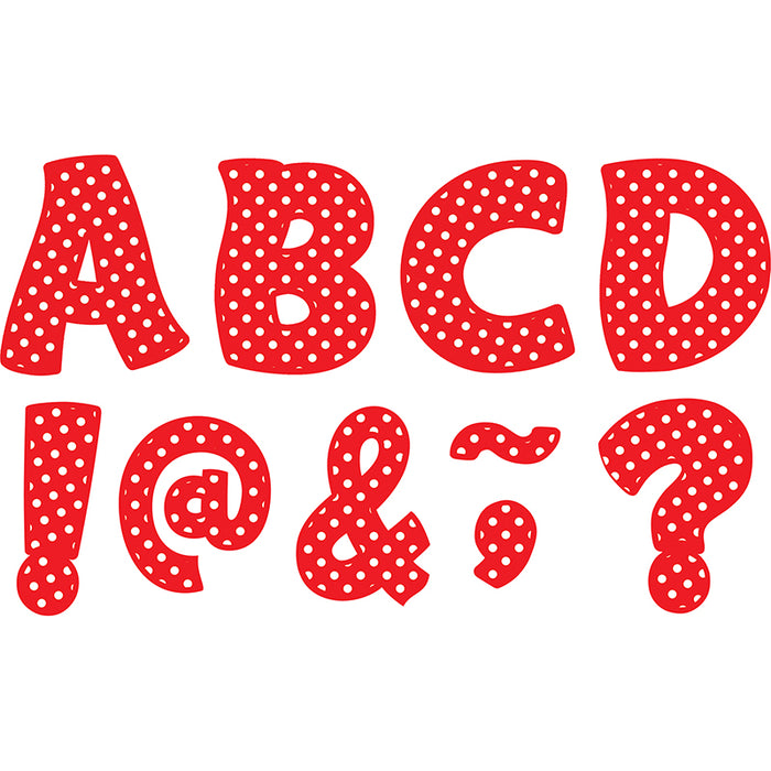 Red Polka Dots Funtastic Font 3in Magnetic Letters