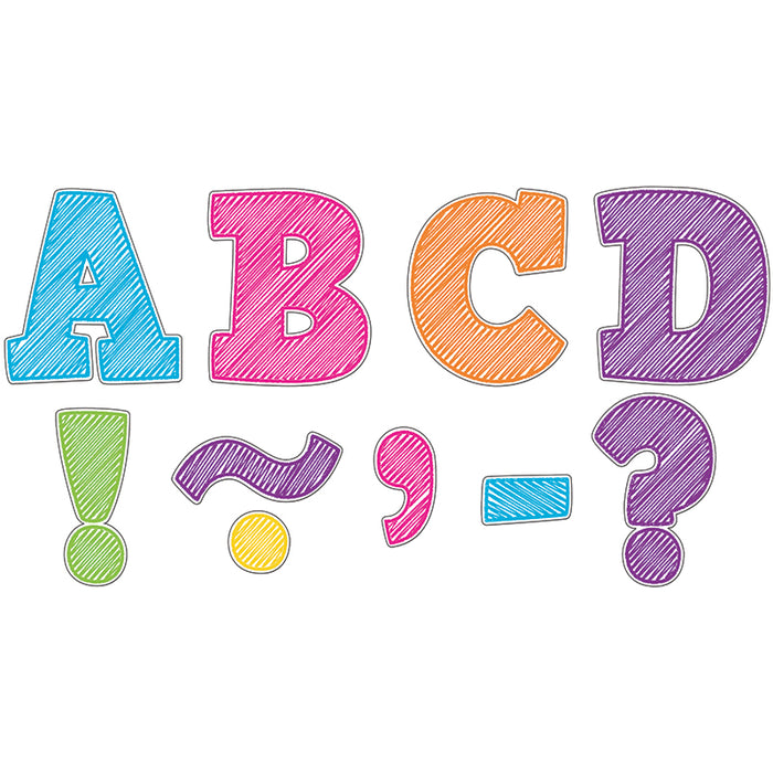 SCRIBBLE BOLD BLOCK 3 MAGNETIC LETTERS - Supplies by Teachers