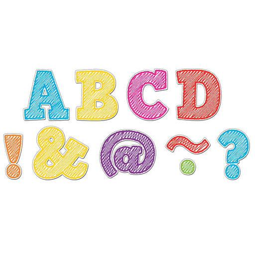 SCRIBBLE BOLD BLOCK 2IN MAGNETIC LETTERS - Supplies by Teachers