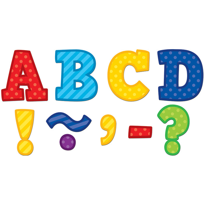 PLAYFUL PATTERNS BOLD BLOCK 3 MAGNETIC LETTERS - Supplies by Teachers