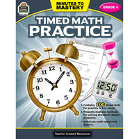 Minutes To Mastery Timed Math Gr 4 Practice