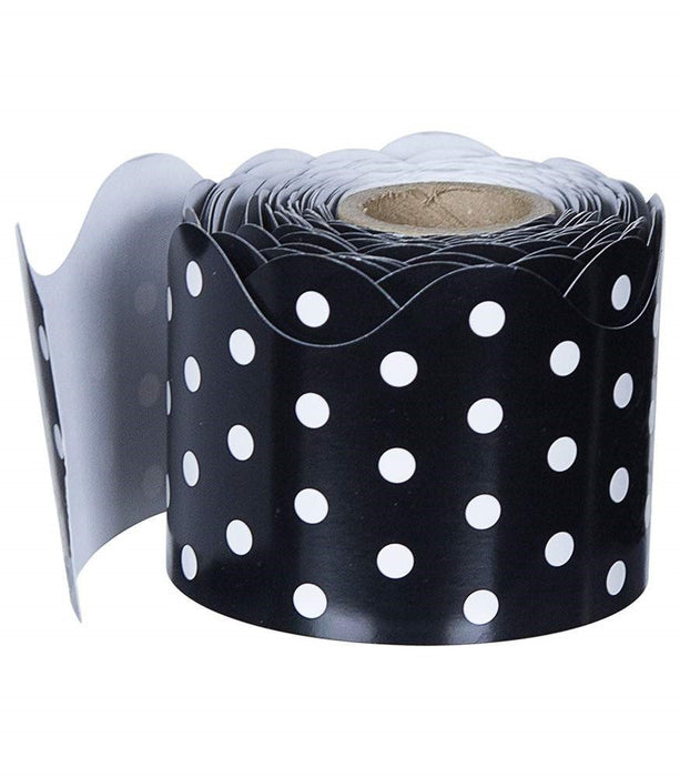 Black and White Dots Scalloped Borders - Supplies by Teachers