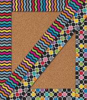 Colorful Chalkboard Straight Two Sided Borders