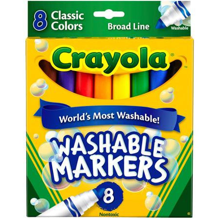 Crayola Washable Markers 8 count - Supplies by Teachers