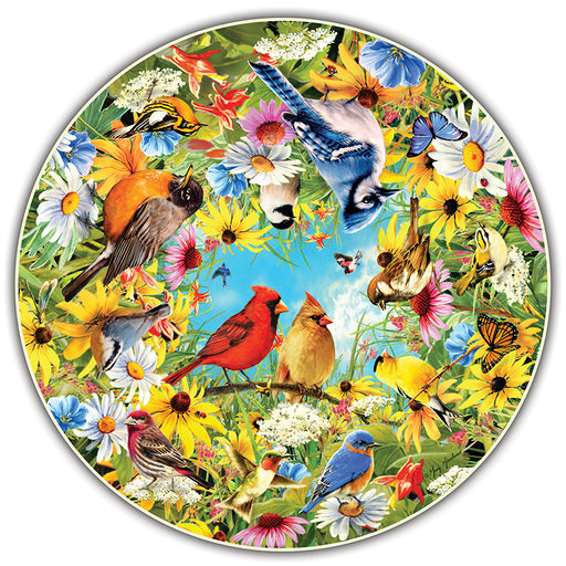 BACKYARD BIRDS ROUND TABLE PUZZLE - Supplies by Teachers