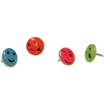 Push Pins Smiley Faces 16 Pack