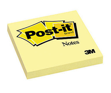 Post-it Notes Canary 100ct 3x3 - Supplies by Teachers