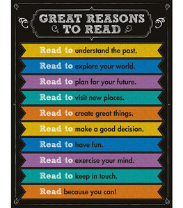 Great Reasons to Read Chart - Supplies by Teachers