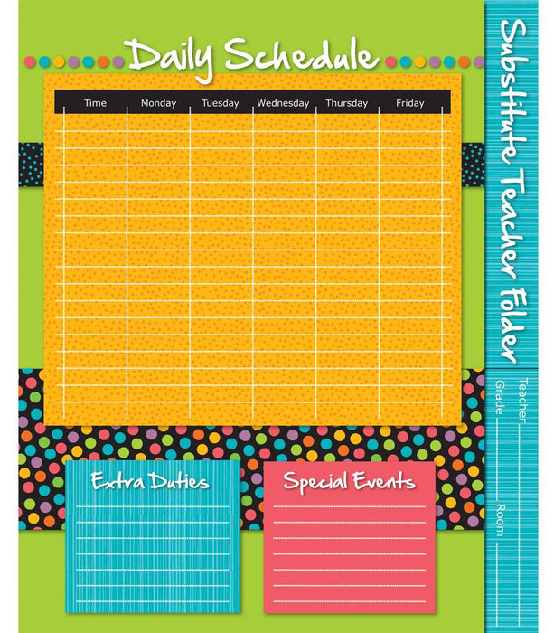 Stylin' Stripes Substitute Teacher Folder - Supplies by Teachers