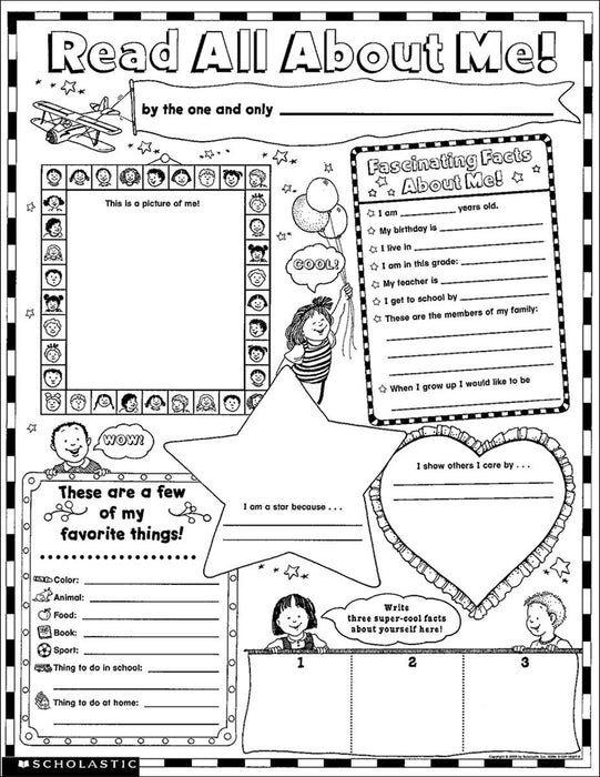 Read All About Me: 30 Big Write-and-Read Learning Posters - Supplies by Teachers