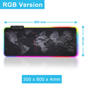 Gaming Mouse Pad World Map with RGB