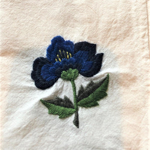 Embroidered cotton napkins - CUSTOM ORDER