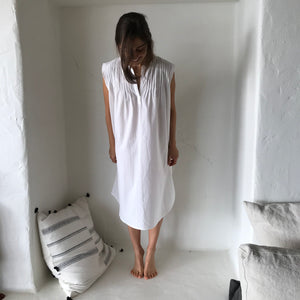 cotton pleated short nightie