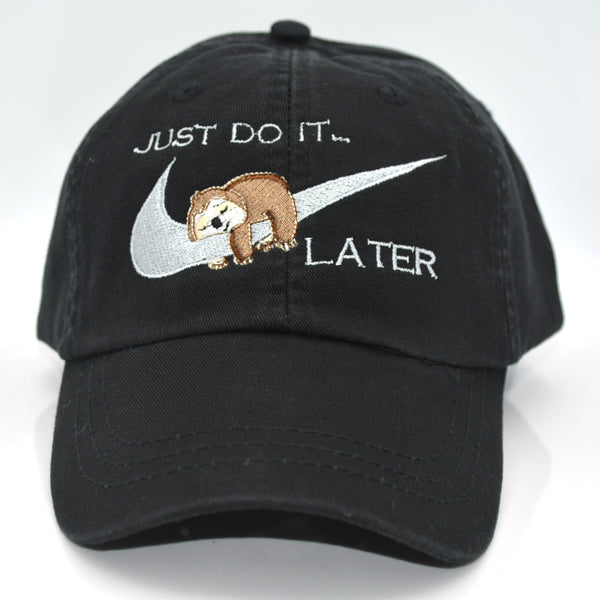 Just Do It Later Sloth Swoosh