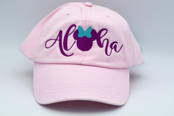 Aloha Mickey / Minnie Mouse Head With Bow Hat
