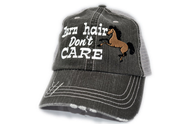 Barn Hair Don't Care Horse Trucker Hat
