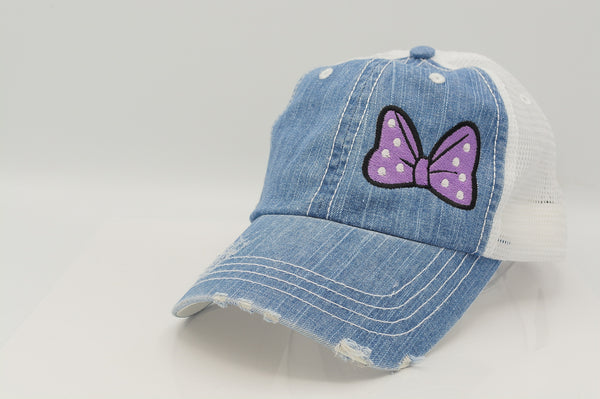 Minnie Mouse Bow Polka Dot Trucker Hat