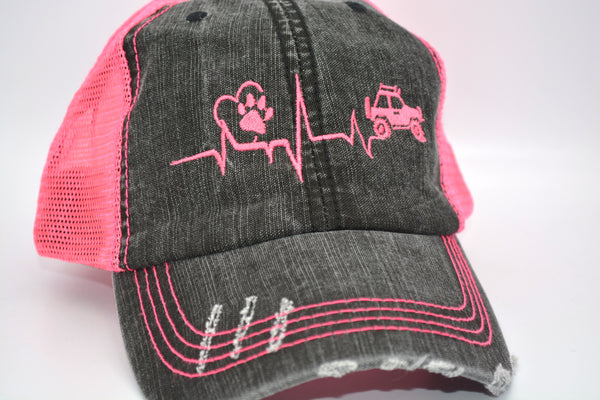 Jeep Heart Beat Trucker Hat