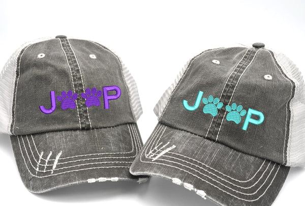 Jeep Paws Trucker Hat