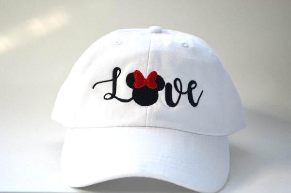 Love Mickey / Minnie Mouse Head With Bow Hat