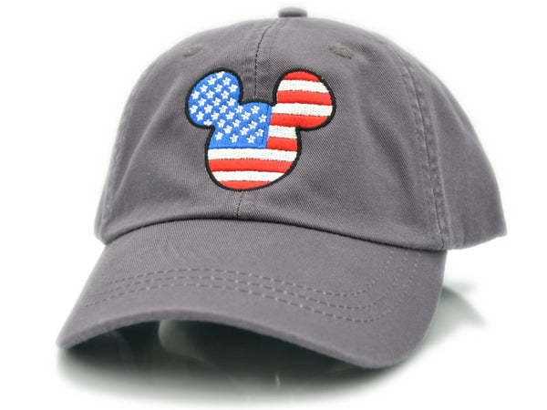 Mickey Mouse Head US Flag Hat