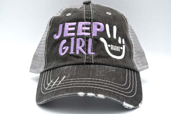 Peace Wave Jeep Girl Trucker Hat