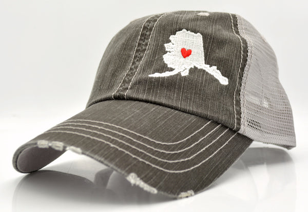 State with Heart Trucker Hat