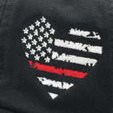 Heart Thin Line US Flag Hat