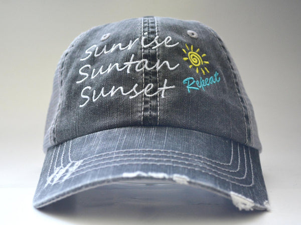 Sunrise Suntan Sunset Repeat Trucker Hat