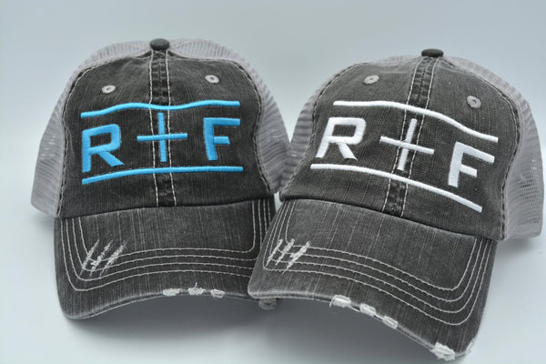 Rodan and Fields (R+F with Bars) Trucker Hat