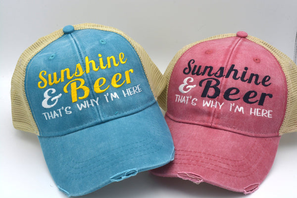 Sunshine and Beer Structured Trucker Hat