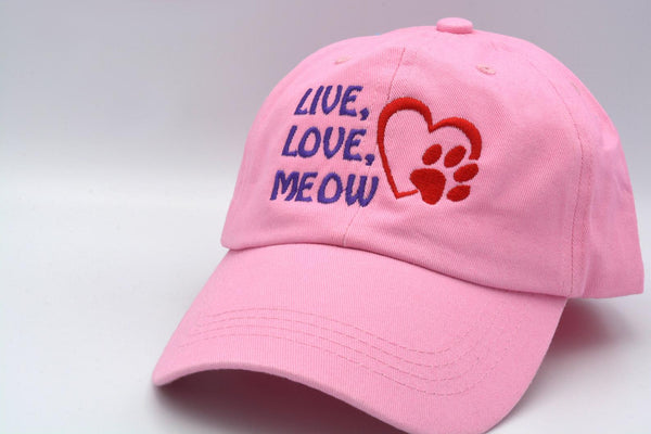 Live Love Meow Hat 🐾