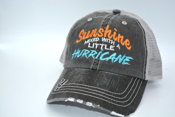 Sunshine Mixed with a Little Hurricane Trucker Hat