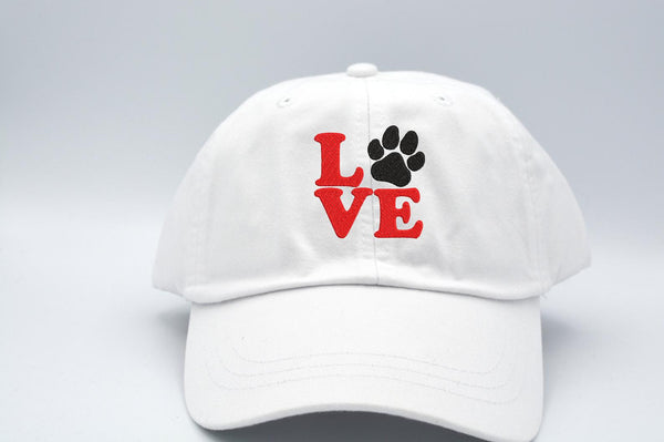 Love Dog Paw Print Hat (Square Design) 🐾