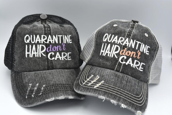Quarantine Hair Don't Care Trucker Hat