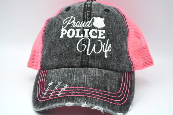 Proud Police Wife Trucker Hat