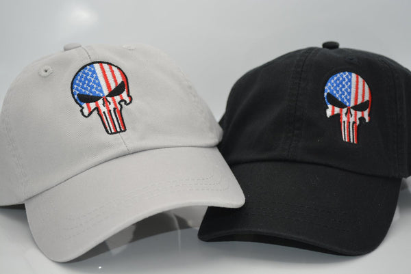 Punisher Skull US Flag Hat