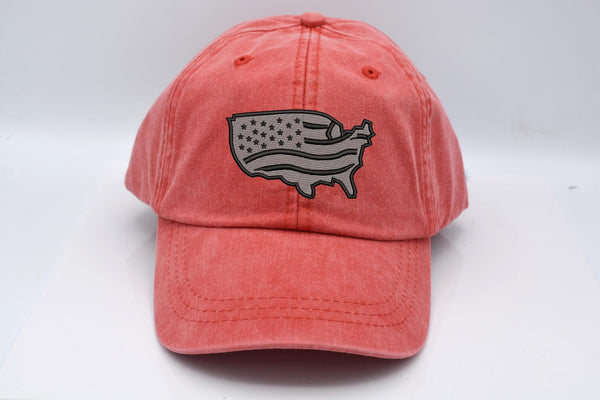 USA Flag Map Hat