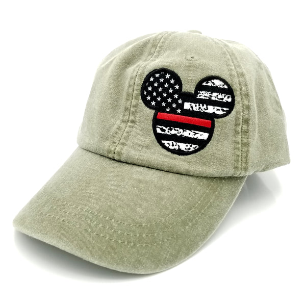 Mickey Mouse Thin Line US Flag Hat