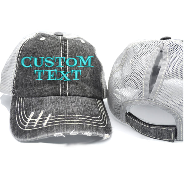 Custom Ponytail Trucker Hat