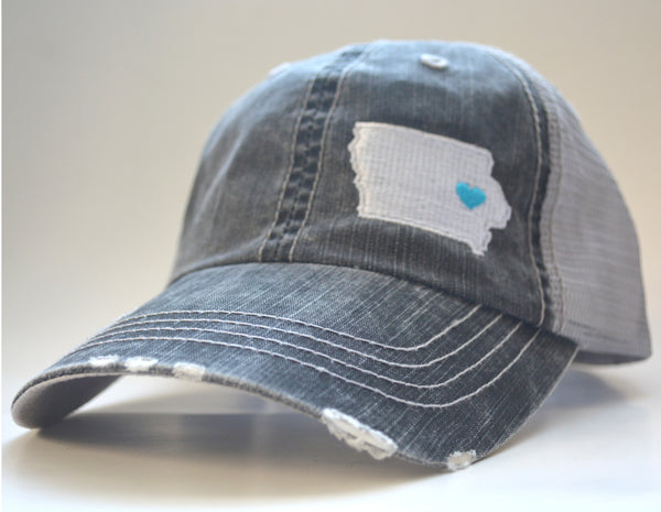 State Outline Embroidered Trucker Hat