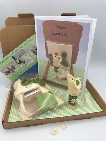 Mouse on a bobbin craft kit