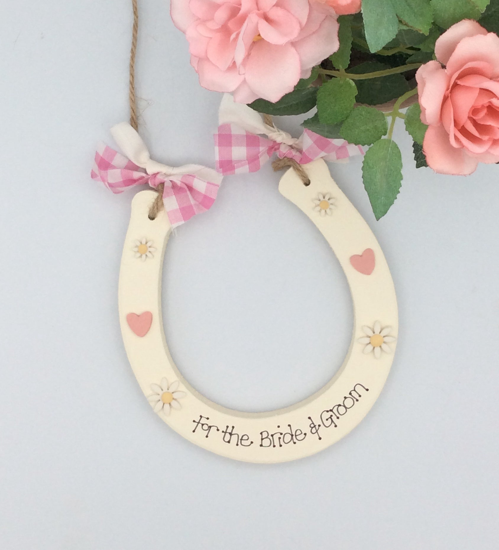 Personalised wedding horseshoe