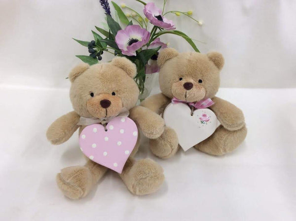 Teddy bear with personalised heart